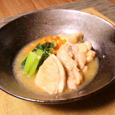 鶏もも肉と小松菜の治部煮