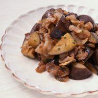 豚バラ肉とナスの梅しそ炒め