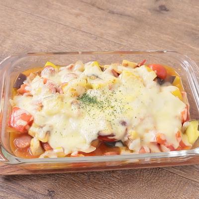 カポナータのチーズグラタン