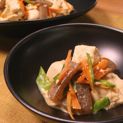 こんにゃく入り炒り豆腐