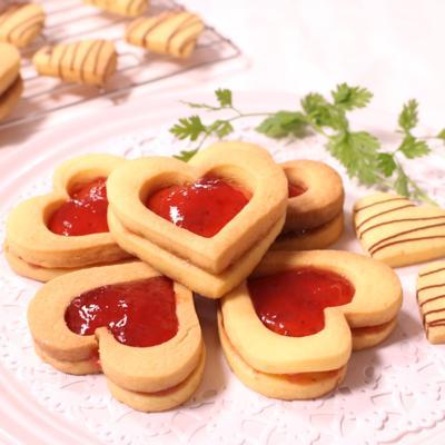 バレンタインに!キラキラハートクッキー