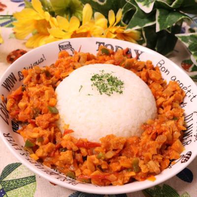高野豆腐で作る ドライカレー